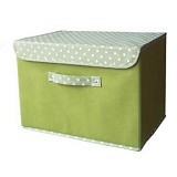 FUNIKA Non Woven Storage Bin with Lip Cover [NW13203] - Green - Container